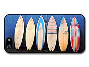Surf Boards Vintage Aligned on Blue Wall case for iPhone 5 5S by runtopwell