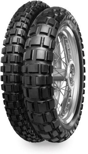 Continental Conti Twinduro TKC80 Dual Sport Tire - Rear - 3.50S-18 , Position: Rear, Rim Size: 18, Tire Application: All-Terrain, Tire Size: 3.50-18, Tire Type: Dual Sport, Load Rating: 62, Speed Rating: S, Tire Construction: Bias 02070800000