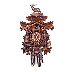 August Schwer Cuckoo Clock Hunting Clock, standing Deer