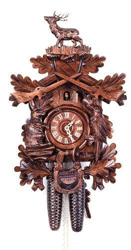 August Schwer Cuckoo Clock Hunting Clock, Standing Deer - Hunting Cuckoo Clock