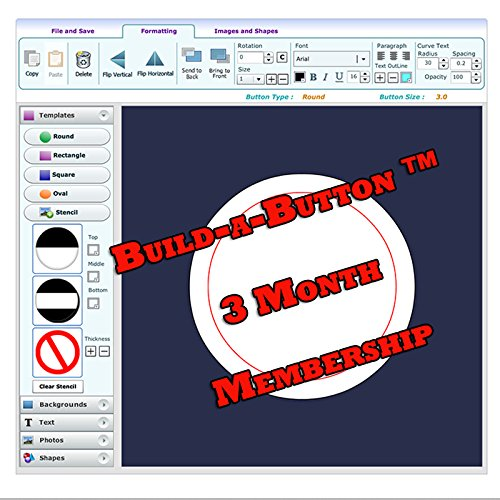 (Button Maker Machine Graphic Making Design Software - 3 Month Membership)