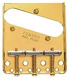 Fender 099-0806-2003Saddle American Vintage Telecaster Bridge Assembly with Chromed Brass Saddles (Gold)