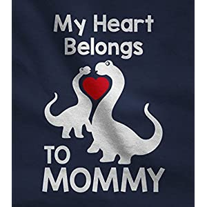 My Heart Belongs to Mommy Shirt Cute T-Rex Love Mothers Day Kids T-Shirt