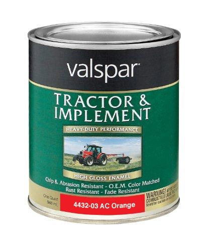 Valspar 4432-03 Allis Chalmers Orange Tractor and Implement Paint - 1 Quart -