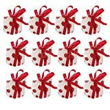12x Pokla Dot Small Candy Chocolate Gift Bags with Handle for Wedding Party
