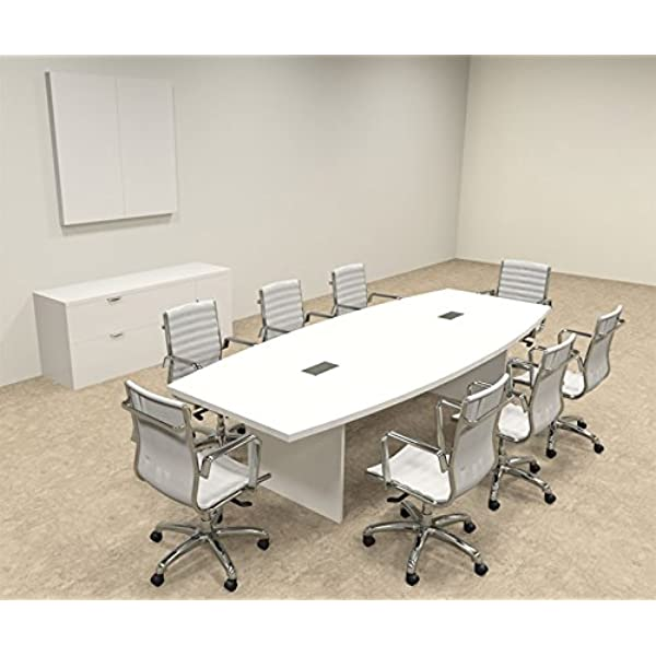 Amazon Com Modern Boat Shaped 10 Feet Conference Table Of Con C122 Office Products