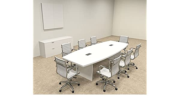Amazoncom Modern Boat Shaped Feet Conference Table OFCON - White marble conference table
