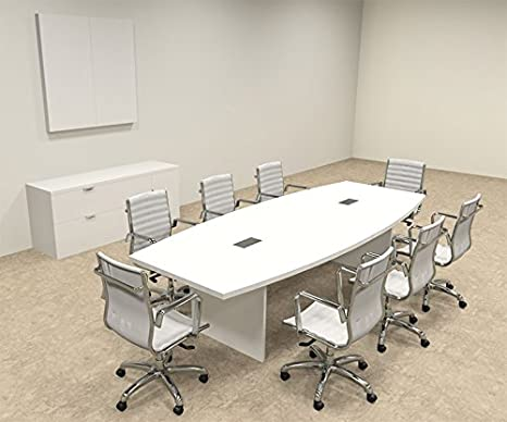Modern Boat shaped 10' Feet Conference Table, #OF-CON-C122