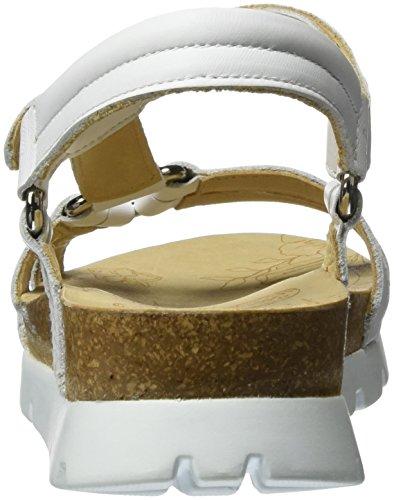 Panama Jack Sally Basics, Sandalias con Cuña para Mujer Blanco (White)