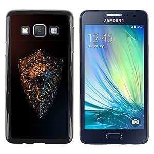 LECELL -- Funda protectora / Cubierta / Piel For Samsung Galaxy A3 SM-A300 -- Cool Lion Roar Gold --