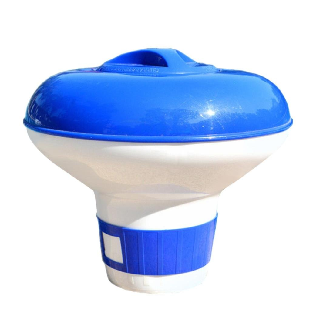 Dartphew Swimming Pool,Dartphew Construction Chlorine Dispenser Outdoor Large Floating Swimming Pool Sturdy for Adjustable Chlorine Output(Designed to be used with 3 inch tabs)