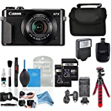 Canon Powershot G7 X Mark II HS Point and Shoot Digital Camera, W/ Case + 64GB Memory + Flash + Tripod + Case + DigitalAndMore Cleaning Kit - Cyber Monday Deal