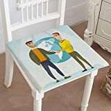 """Mikihome Chair Pads Classic Design Two Partners shaks partnersshak After Successful Deal on a World Cotton Canvas Futon 20""""x20""""x2pcs"""