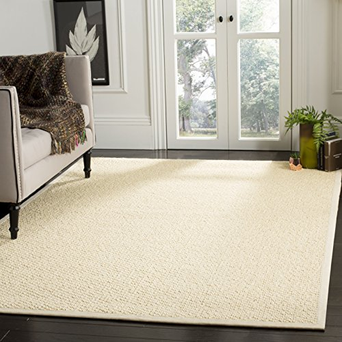 Safavieh Natural Fiber Collection NF525A Cream Sisal Area Rug (3' x 5') (Rug Creme)