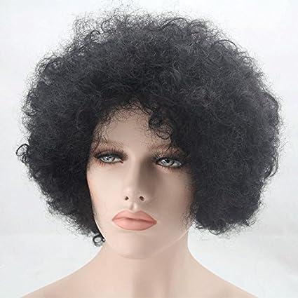 royalvirin corto pelo natural peluca pelo sintético cosplay Afro Kinky Pelucas De Pelo Rizado Pelucas De