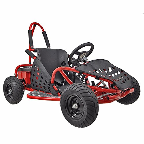 XtremepowerUS Gas Off Road Go Kart 2.5HP 80cc 4 Stroke, EPA Approval, Red