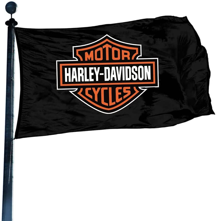 Harley Davidson Flag Banner, Harley Davidson Gift, 3x5 FT 2 Sided Flag, Decorations Party Supplies, Flags for Garage House Outdoor Indoor Decor Wall Decor for Men