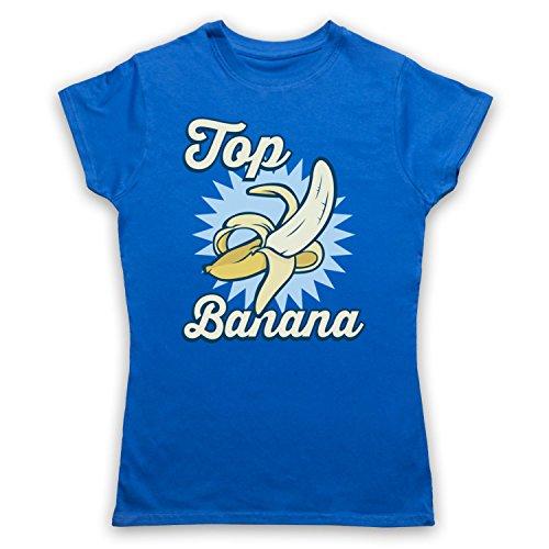 Top Banana Funny Camiseta para Mujer Azul Real