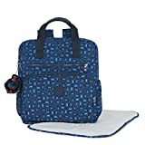Kipling Women's Audrie Printed Backpack Diaper Bag One Size Monkey Mania Blue