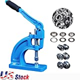 US Stock-Heavy Duty Hand Press Grommet Machine Tool Full Set Kit-3 Die Set 900 Eyelets