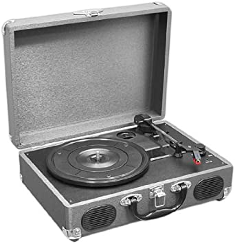 Pyle Upgraded Vintage Record Player - Classic Vinyl Player, Turntable, Rechargeable Batteries, MP3 Vinyl, Music Editing Software Included, USB-to-PC ...