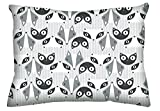 Dreamtown Kids 100% Cotton Snuggle Toddler Pillowcase, Made in USA (Foxes)