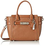 COACH Women's Pebbled Leather Coach Swagger 21 SV/Saddle Satchel