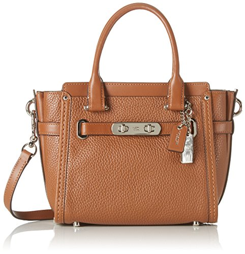COACH Women's Pebbled Leather Coach Swagger 21 SV/Saddle Satchel by Coach