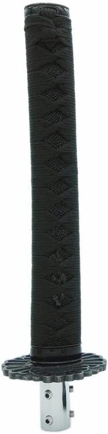 Heinmo Samurai /Ép/ée de levier Shifter Katana en m/étal Levier de vitesse Noir 26.5/cm