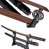 Lyuesword Japanese Handmade Katana Sword Folded Steel Martial Arts Swords Ready for Battle Sword