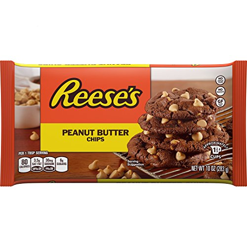 REESE'S Peanut Butter Chips, 10 Ounce (Pack of 12)