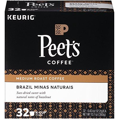 Peet's Coffee, Brazil Minas Naturais, Medium Roast, K-Cup Away, 32 Count