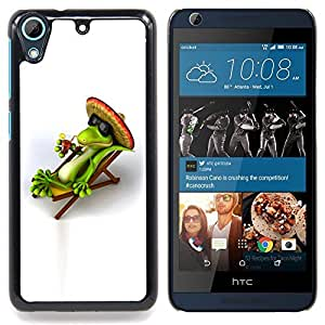 For HTC Desire 626 & 626s - Cool Chill Mexican Lizard /Modelo de la piel protectora de la cubierta del caso/ - Super Marley Shop -