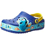 Crocs Kids' Finding Dory Light-up Clog, Cerulean Blue/Lemon, 9 M US Toddler