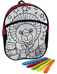 Doodle Canvas Backpack ... Color Your Own ... Personalize With Color ...