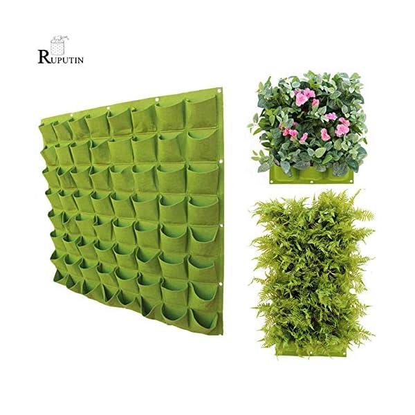 HONIC Wall Hanging Piantare Borse 24 Dimensioni Tasche Verde coltiva Il Sacchetto Planter Verticale Orto Living Bonsai… 2 spesavip