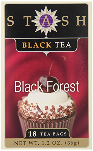 Stash Tea Black Forest Black Tea, 18 Count Tea Bags in Foil (Pack of 6)