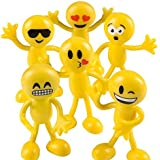 "Emoji Party Favors - Fun Toys - Stocking Stuffers - 2 Dozen 3"" Emoji Smiley Face Emoticon Bendables Bulk pack of 24"