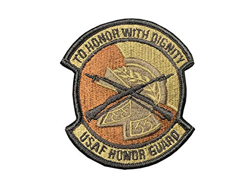 (US Air Force Honor Guard OCP Scorpion Spice Brown Patch with Hook Fastener)