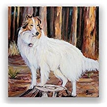 Rough Collie Dog Fine Art Print Giclee for your Americana Farmhouse Decor Gifts Idea, mat option