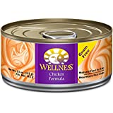 Wellness Complete Health Natural Grain Free Wet Canned Cat Food, Chicken Recipe, 5.5-Ounce Can (Pack of 24)