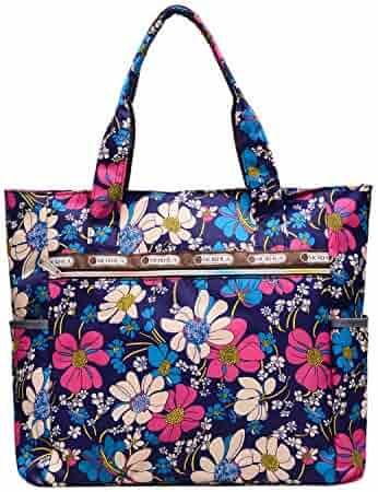 d02af721b74f Nylon Water Resistant Multi Pockets Large Lightweight Tote Bag Shoulder Bag  for Gym Hiking Picnic Travel Beach Waterproof Tote Bags  (Dark Blue HB ) ...