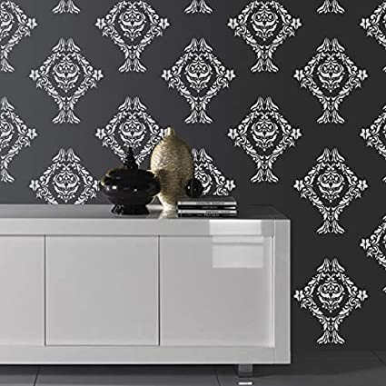 Buy Gallerist Wall Painting Stencil Traditional Design Wall