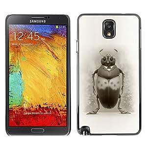 Shell-Star Art & Design plastique dur Coque de protection rigide pour Cas Case pour SAMSUNG Galaxy Note 3 III / N9000 / N9005 ( Bug Art Drawing Beetle Pencil Black White )