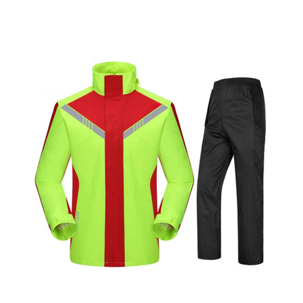 rouge+vert XXXL JTWJ Imperméable imperméable Costume de Pluie Costume, imperméable en Plein air de Mode Split, Unisexe, adapté pour la pêche étanche à Cheval (Couleur   noir+rouge, Taille   XXL)