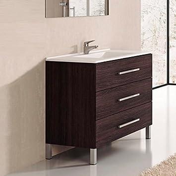 Ducha.es Indus Ensemble de salle de bain avec meuble et plan vasque ...