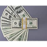 PROP MONEY Series 2000s $100 Full Print Stack for Movie, TV, Video, Advertising & Novelty
