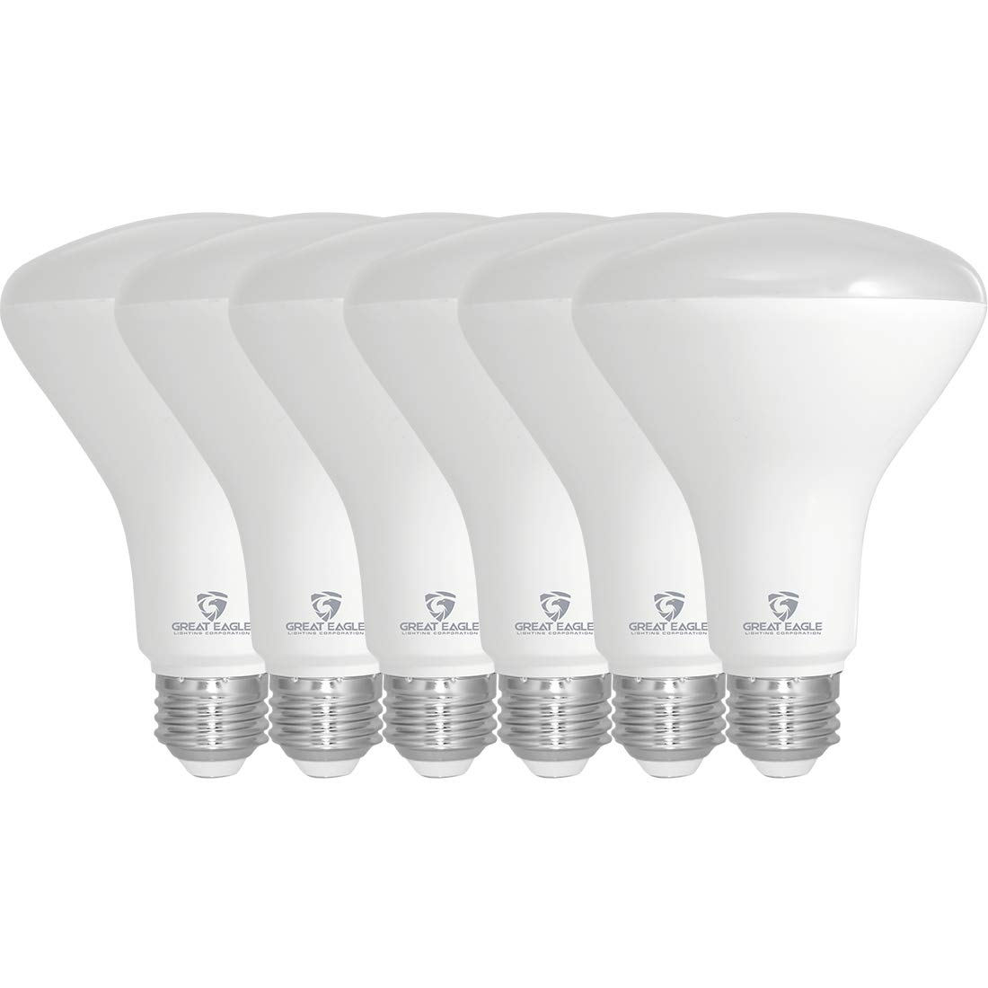 Great Eagle R30 or BR30 LED Bulb, 11W (75W Equivalent), 870 Lumens, Upgrade for 65W and 75W Bulb, 2700K Warm White Color, for Recessed Can Use, Wide Flood Light, Dimmable, and UL Listed (Pack of 6)