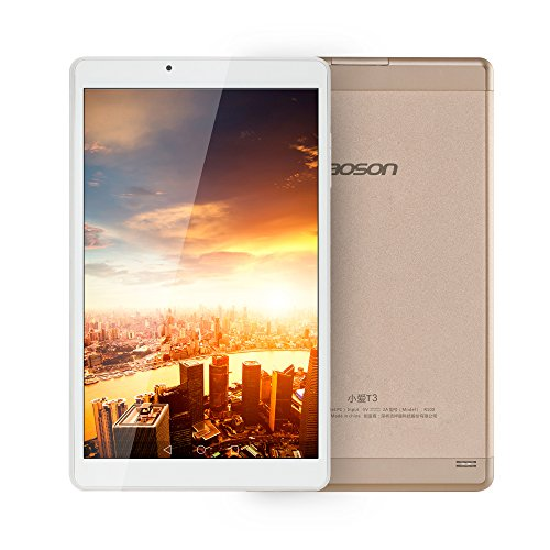 AOSON R103 10-Inch Android 6.0 Marshmallow MTK8163 Quad Core Tablet PC 2GB RAM 32GB internal Storage 1280x800 IPS HD Touch Screen Dual Camera Wi-Fi Bluetooth Golden rear by Aoson