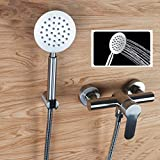 FZHLR Cold And Hot Bathtub Faucet Shower Head Set Single Handle 304 Stainless Steel Wall Mount Faucets